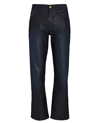 Le High Straight Coated Jeans, BLUE-MED, hi-res