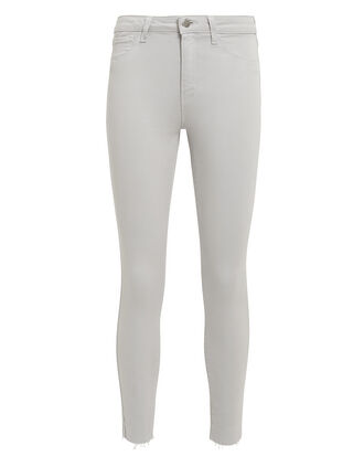 Margot Grey High-Rise Ankle Skinny Jeans, LIGHT GREY DENIM, hi-res