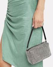 Crystal Chainmesh Clutch, BLK/WHT, hi-res