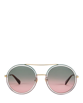 Ombré Rounded Sunglasses, RED/GREEN/CLEAR, hi-res