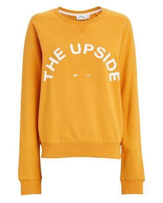 Bondi Logo Crewneck Sweatshirt, ORANGE, hi-res
