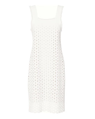 Eyelet Detail Cami Dress, WHITE, hi-res