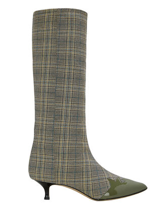Evin Boots, GREEN/BLUE/GREY PLAID, hi-res