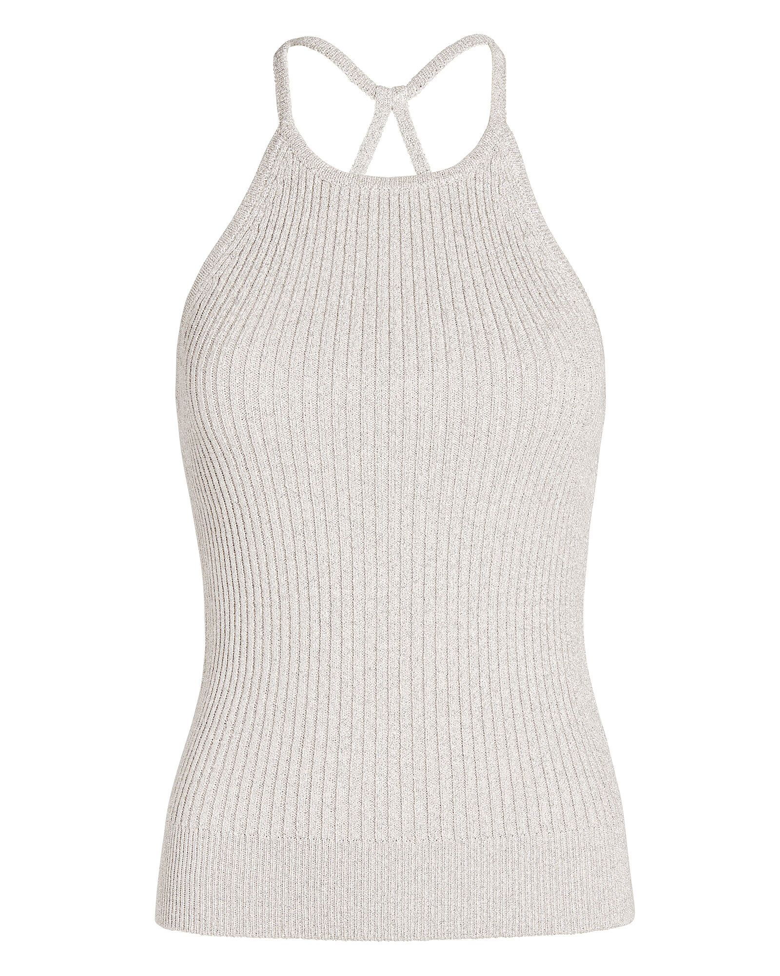 Madison Lurex Tank Top, SILVER, hi-res