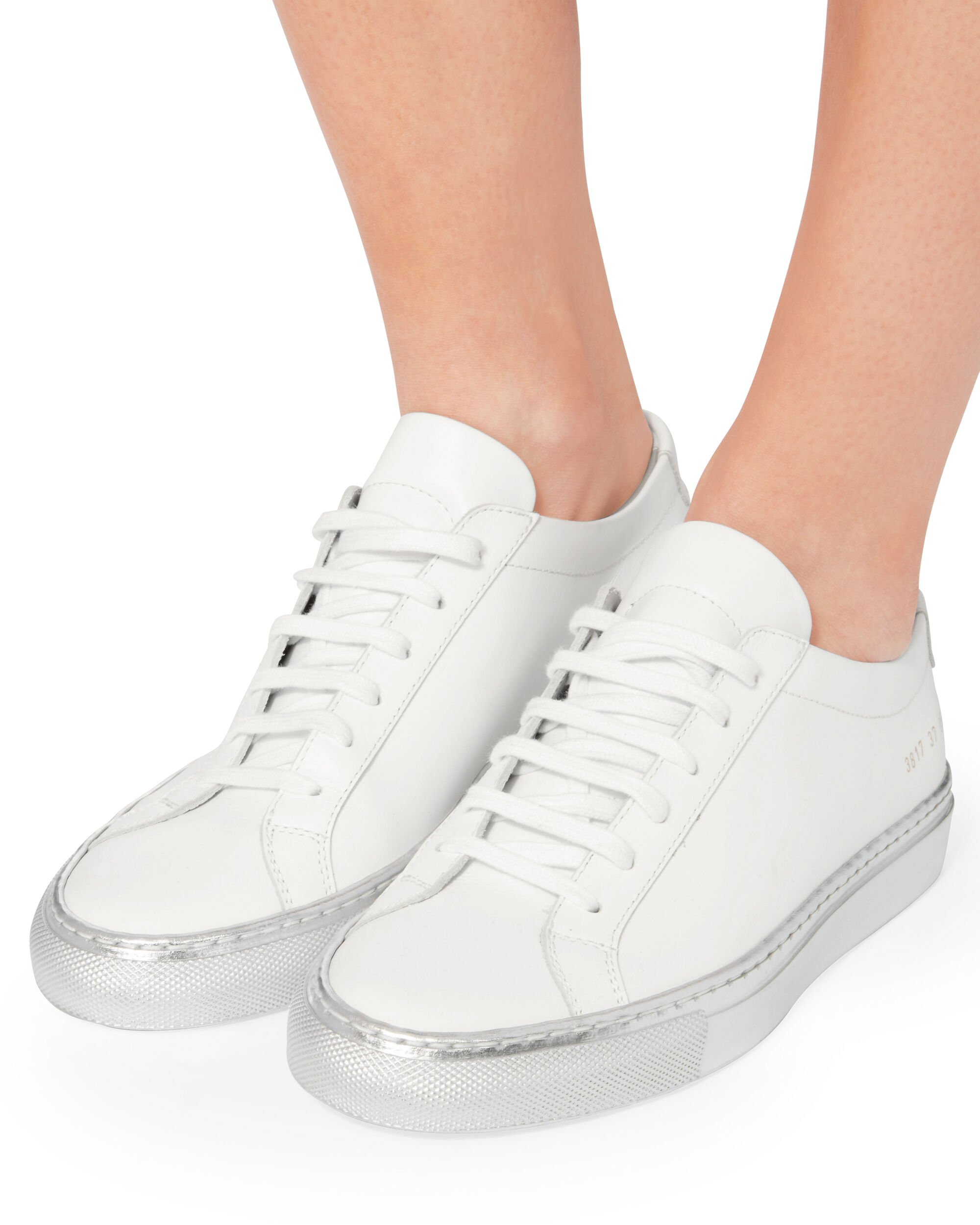 Achilles Silver Sole Low-Top Sneakers, WHITE 2, hi-res