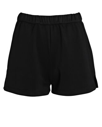 Micro Scuba Sweat Shorts, BLACK, hi-res