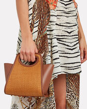 Cupidon Small Raffia Tote, BROWN, hi-res