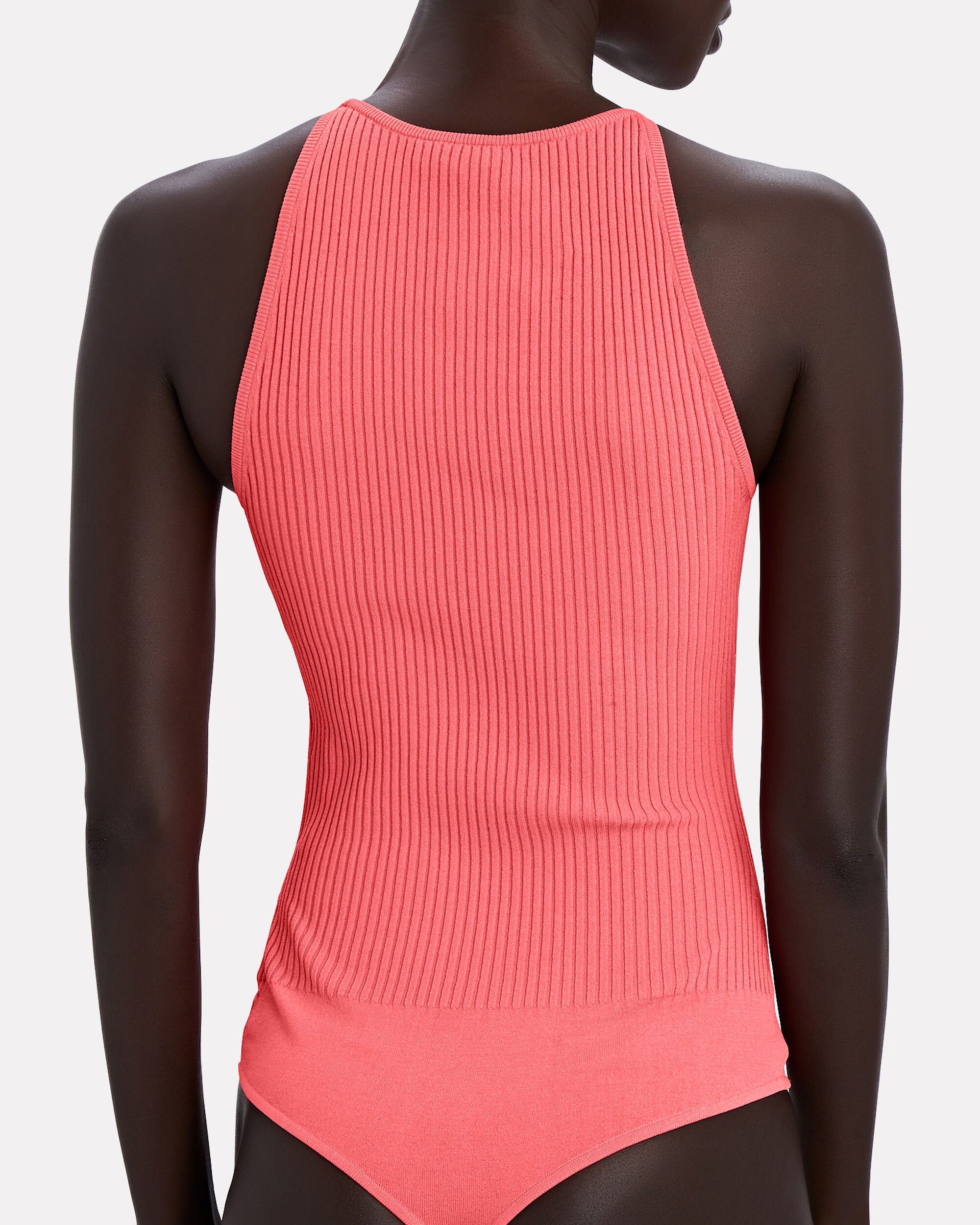 New Thea High Neck Lace /& Mesh Body in Pink SEU1