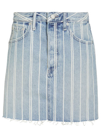 Corey Striped Denim Skirt, STRIPED DENIM, hi-res