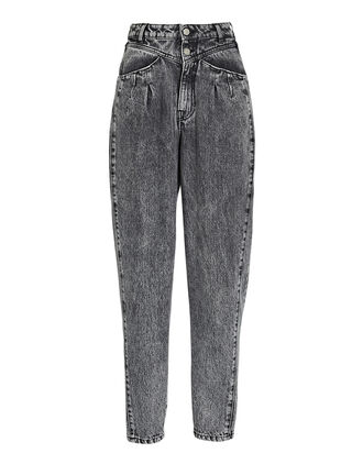 Corto Tapered High-Rise Jeans, ACID WASH, hi-res