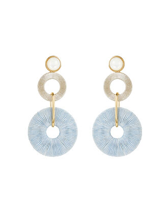 Holiday Column Earrings, BLUE/GOLD, hi-res