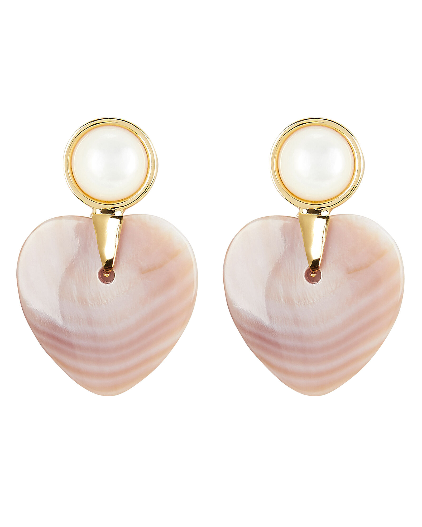 Heart and Soul Earrings, GOLD/PINK, hi-res