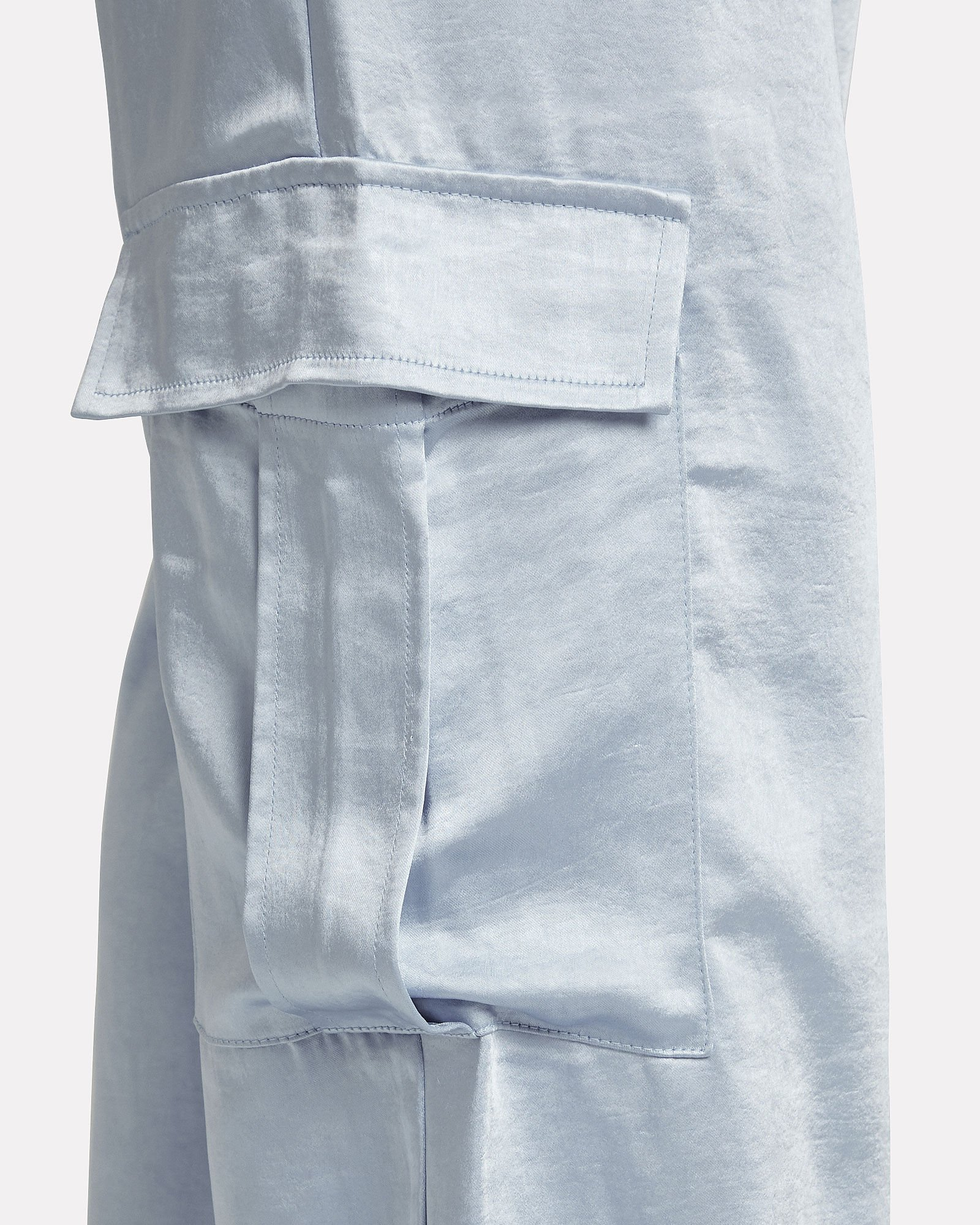 Pippa Satin Cargo Pants, BLUE-LT, hi-res