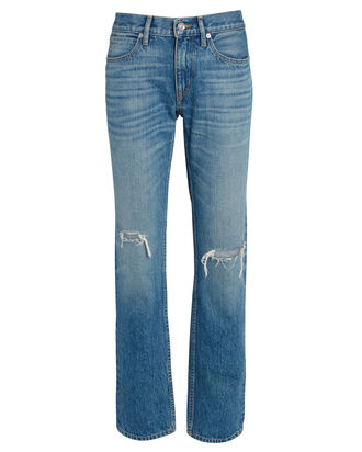 Tyler Distressed Straight-Leg Jeans, MEDIUM WASH DENIM, hi-res