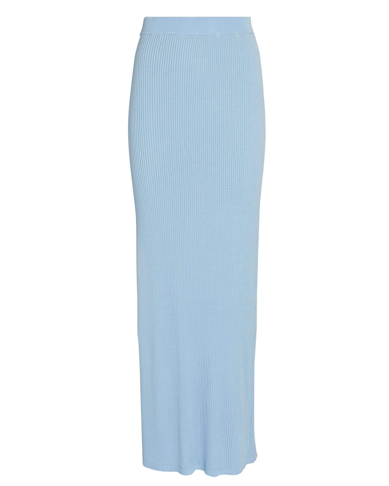 Rita Rib Knit Maxi Skirt, LIGHT BLUE, hi-res