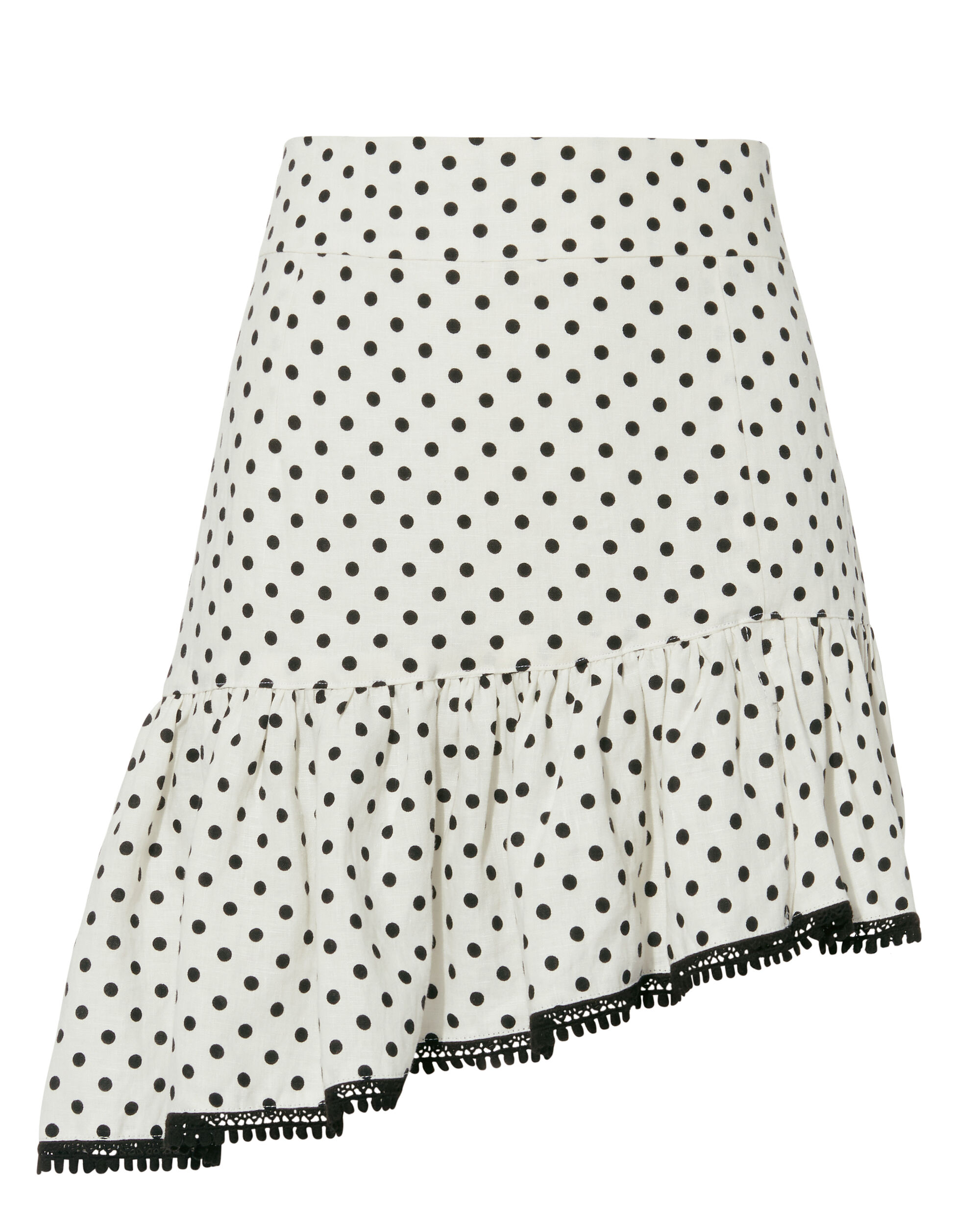 SUBOO Over & Over Frill Mini Skirt in White