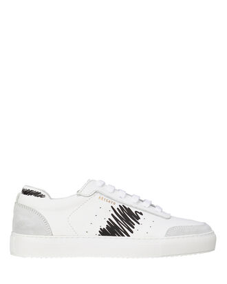 Dunk Scribble Leather Sneakers, BLK/WHT, hi-res