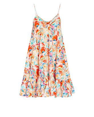 Laurel Printed Sleeveless Mini Dress, MULTI, hi-res