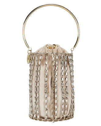 Kill Bill Chain Bucket Bag, GOLD, hi-res
