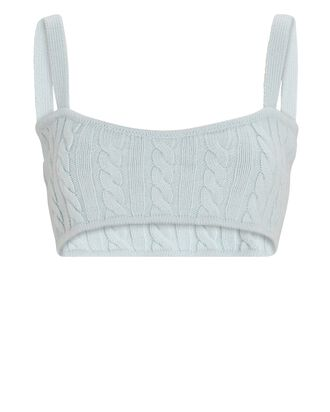 Tanna Cable Knit Bralette, LIGHT BLUE, hi-res