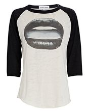 Gloss Lips Baseball Graphic T-Shirt, IVORY/BLACK, hi-res