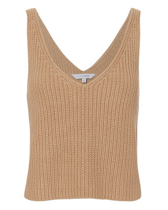 Mimi Sweater Tank, BEIGE, hi-res