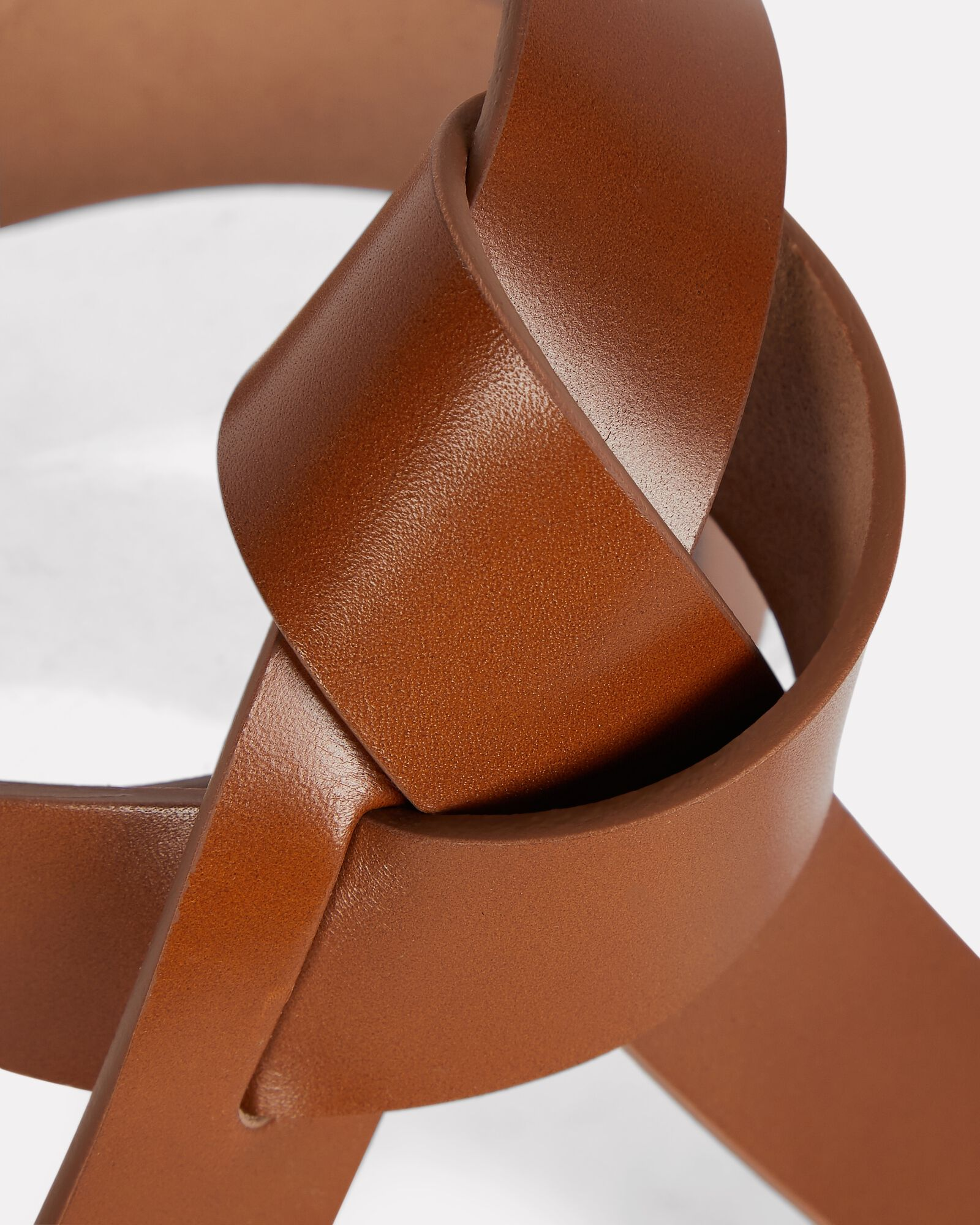Lecce Knotted Leather Belt, BROWN, hi-res