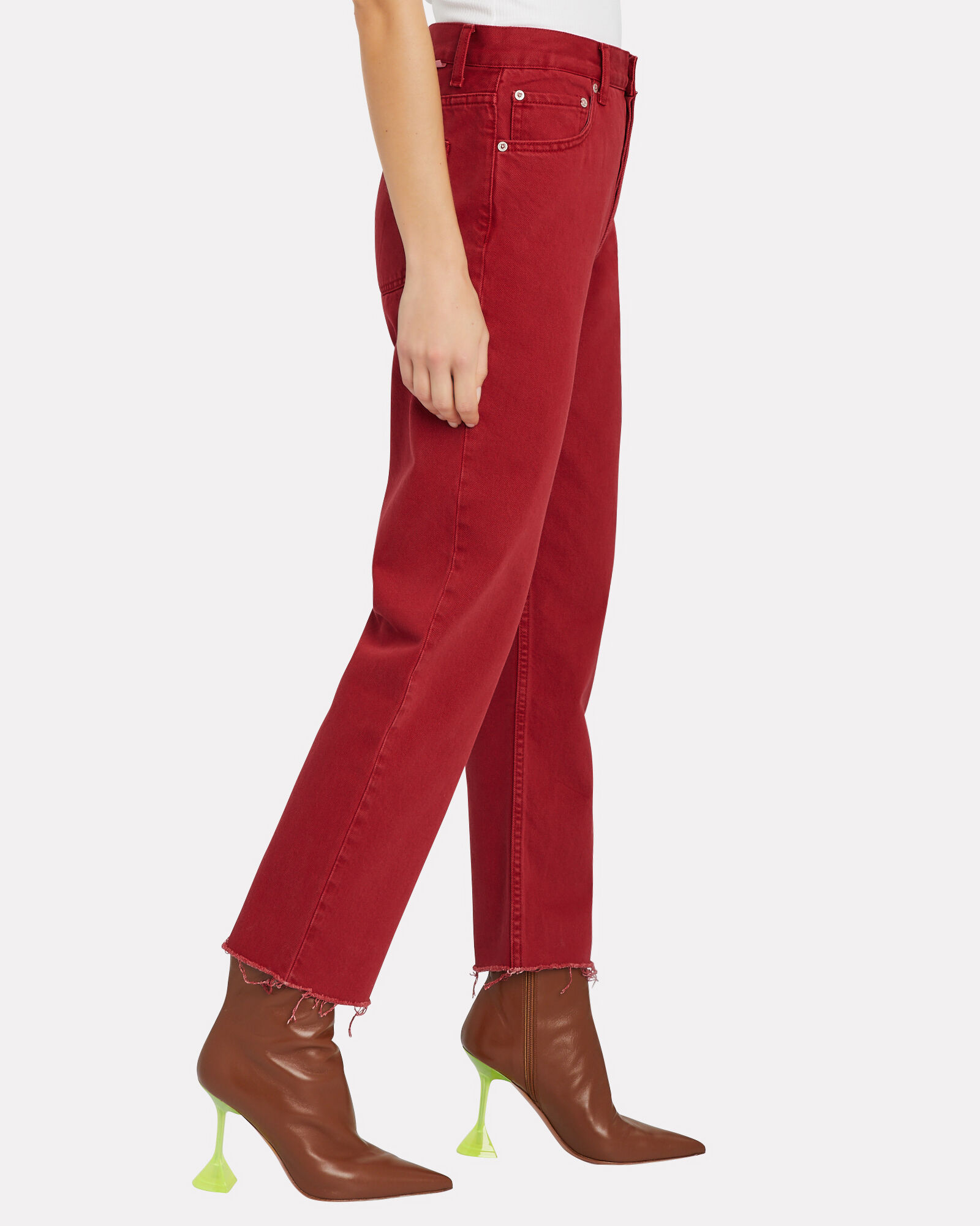 The Tommy High-Rise Jeans, RED, hi-res