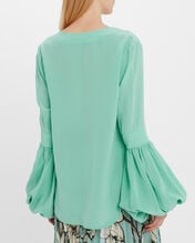 Barbara Crepe Silk Blouse, BLUE-MED, hi-res