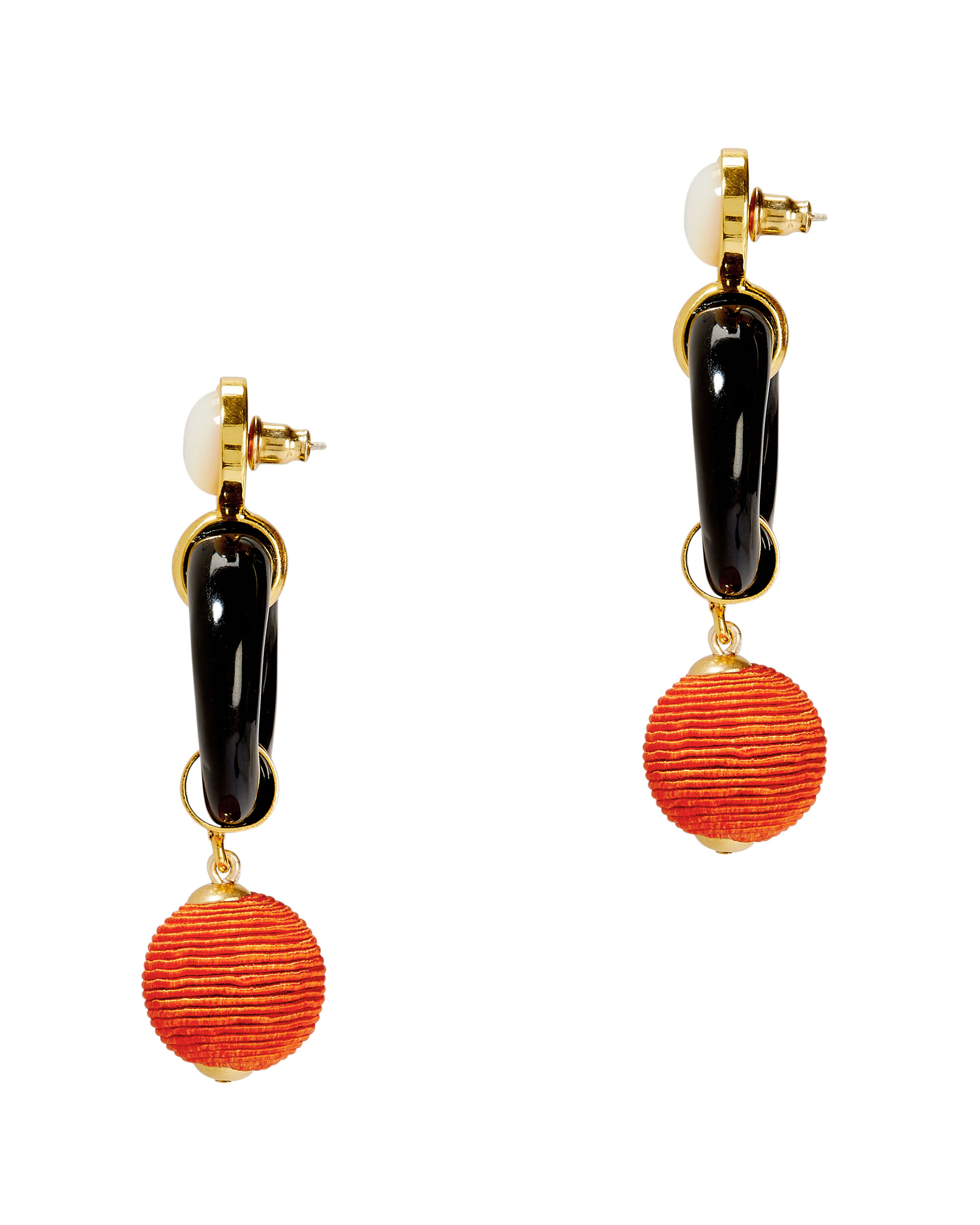 Le Loop Earrings, BLACK, hi-res