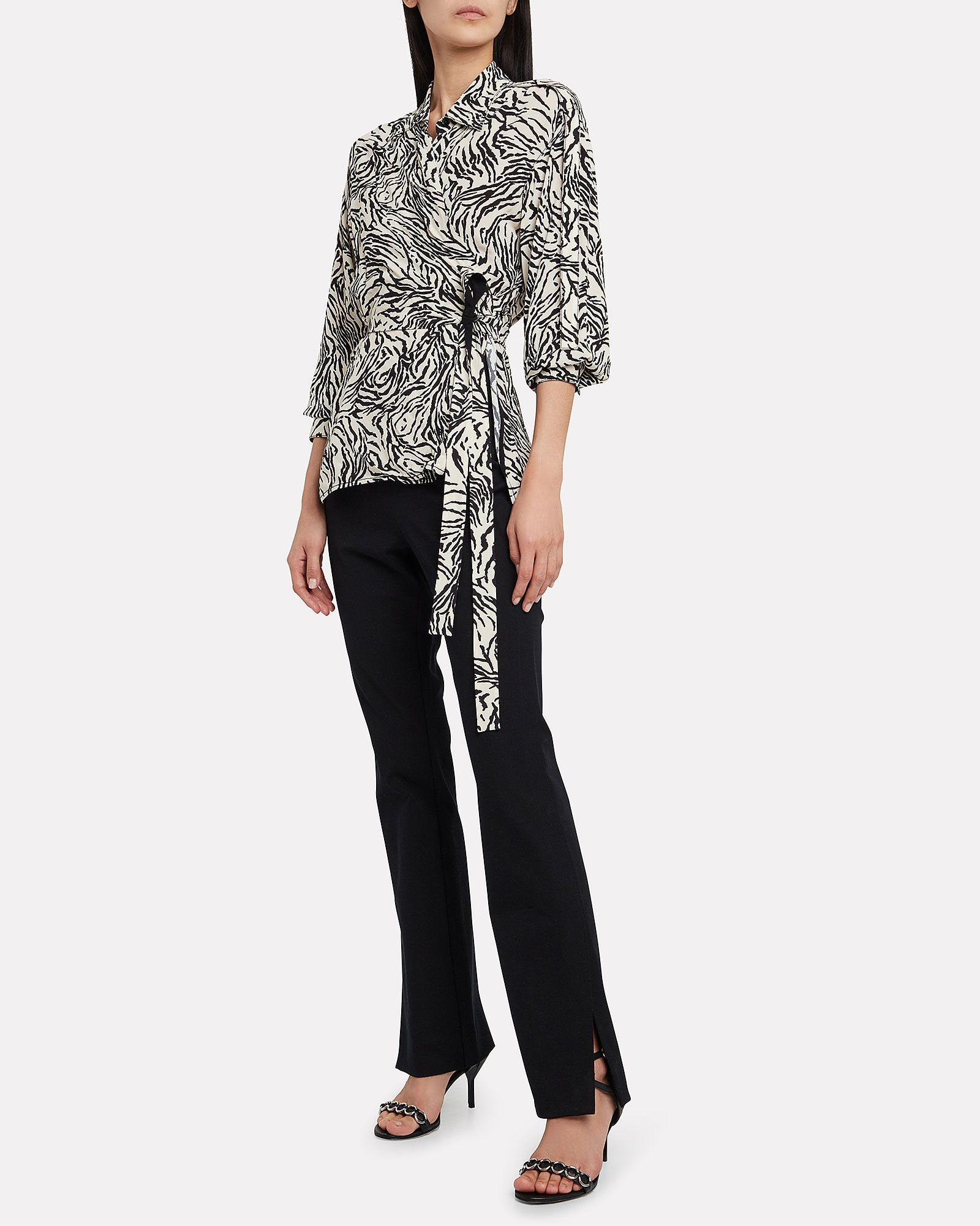 Marissa Split-Hem Trousers, BLACK, hi-res