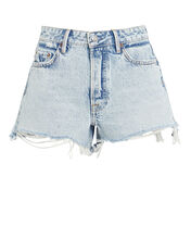 Helena Cut-Off Denim Shorts, DENIM-LT, hi-res