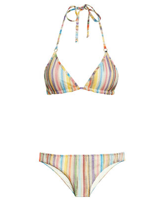 Rainbow Lurex Tie Bikini, MULTI, hi-res