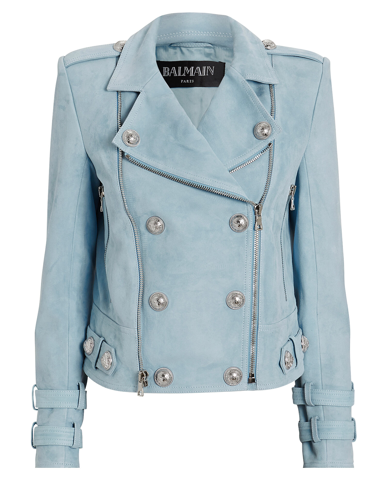 Suede Cropped Moto Jacket, BLUE-LT, hi-res