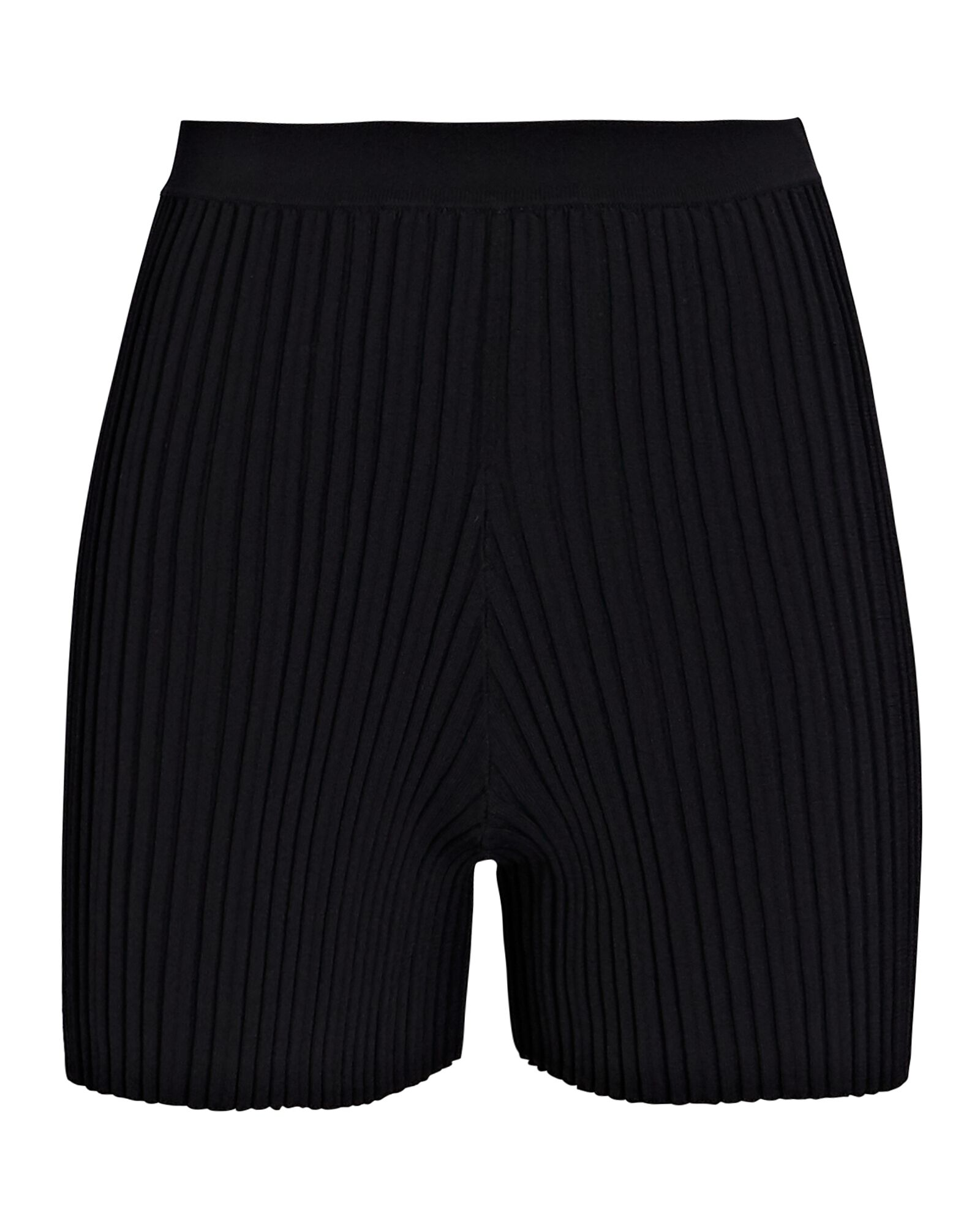 Float Rib Knit Bike Shorts, BLACK, hi-res