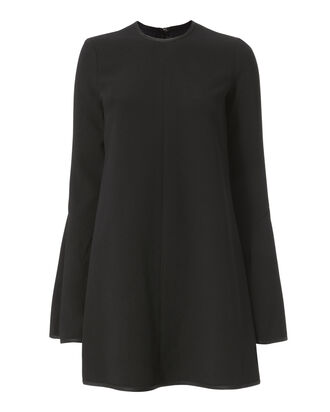 Preacher Bell Sleeve Mini Dress, BLACK, hi-res