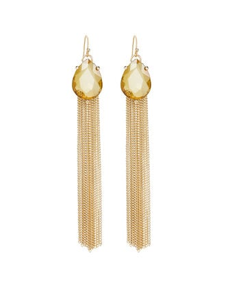 Pear Drop Fringe Earrings, GOLD, hi-res