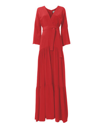 Yerim Tiered Maxi Dress, RED, hi-res
