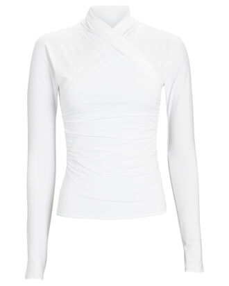 Felix High Neck Top, WHITE, hi-res