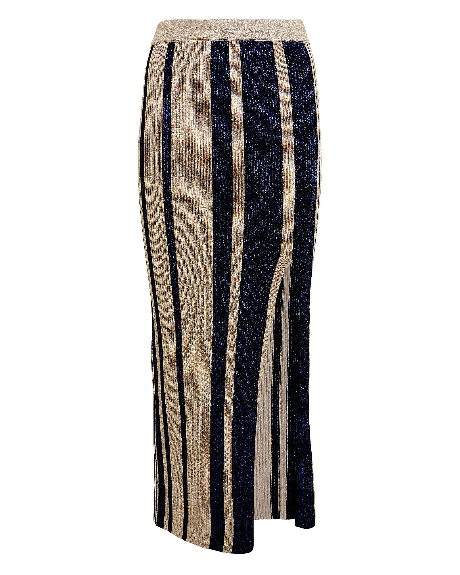 Lurex Striped Knit Skirt, MULTI, hi-res