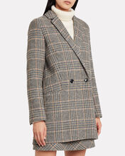 Ditte Checked Wool Blazer, TAUPE/CHECK, hi-res