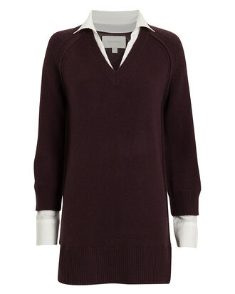 Looker Wool-Cashmere Sweater Dress, MULBERRY, hi-res