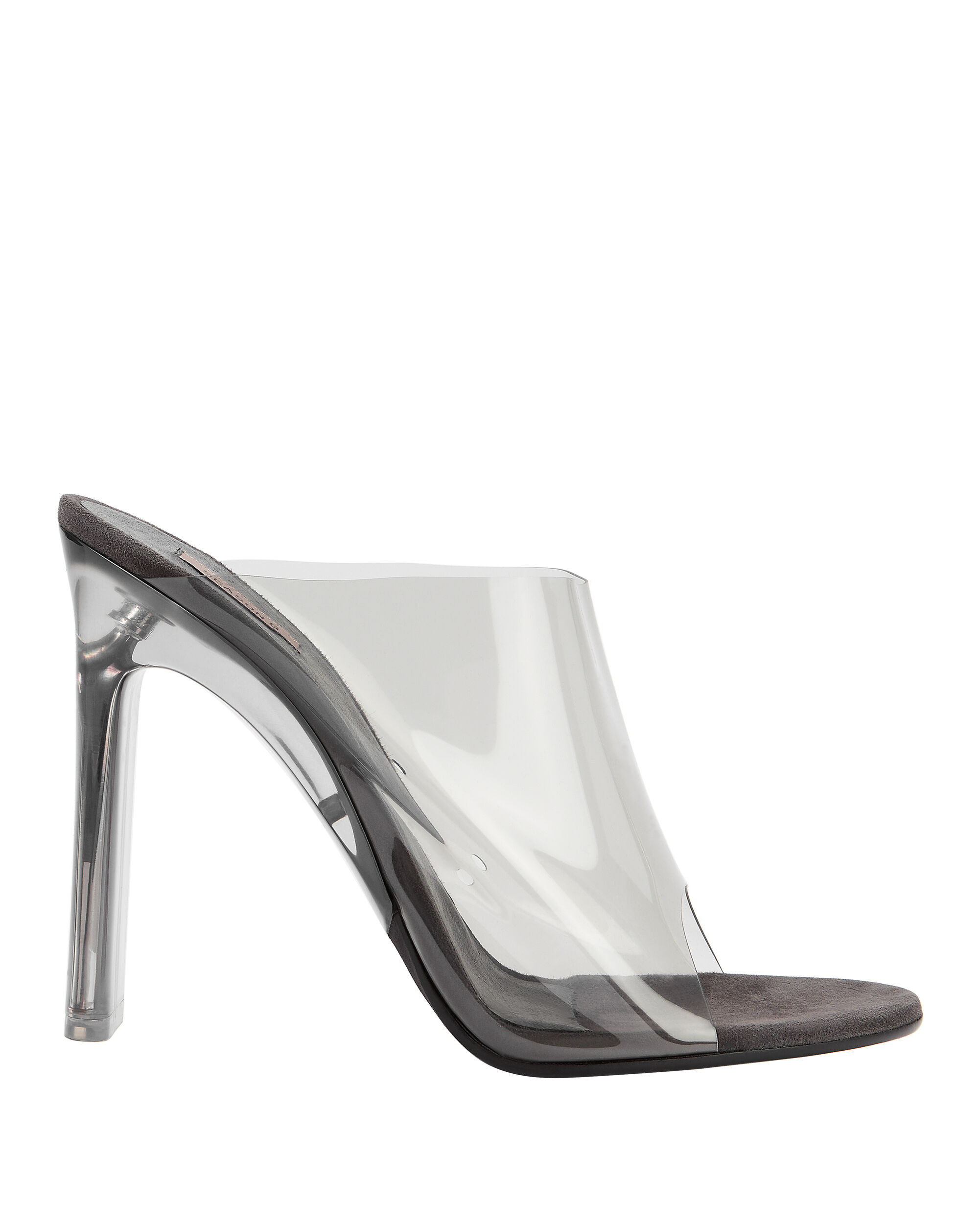 Transparent Grey Mules, GREY, hi-res