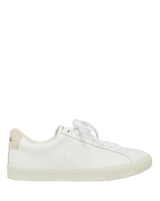 Esplar White Low-Top Sneakers, WHITE/BEIGE, hi-res