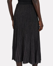 Kelly Pleated Midi Skirt, BLACK, hi-res