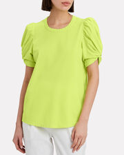 Kati Puff Sleeve T-Shirt, NEON YELLOW, hi-res