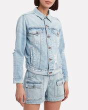 Adams Washed Denim Jacket, LIGHT WASH DENIM, hi-res