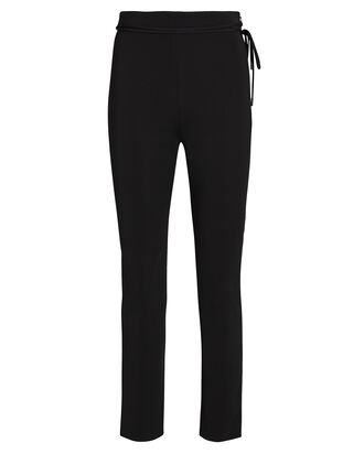 Cropped Crepe Pants, BLACK, hi-res