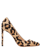 Leopard Calf Hair Pumps, BROWN, hi-res