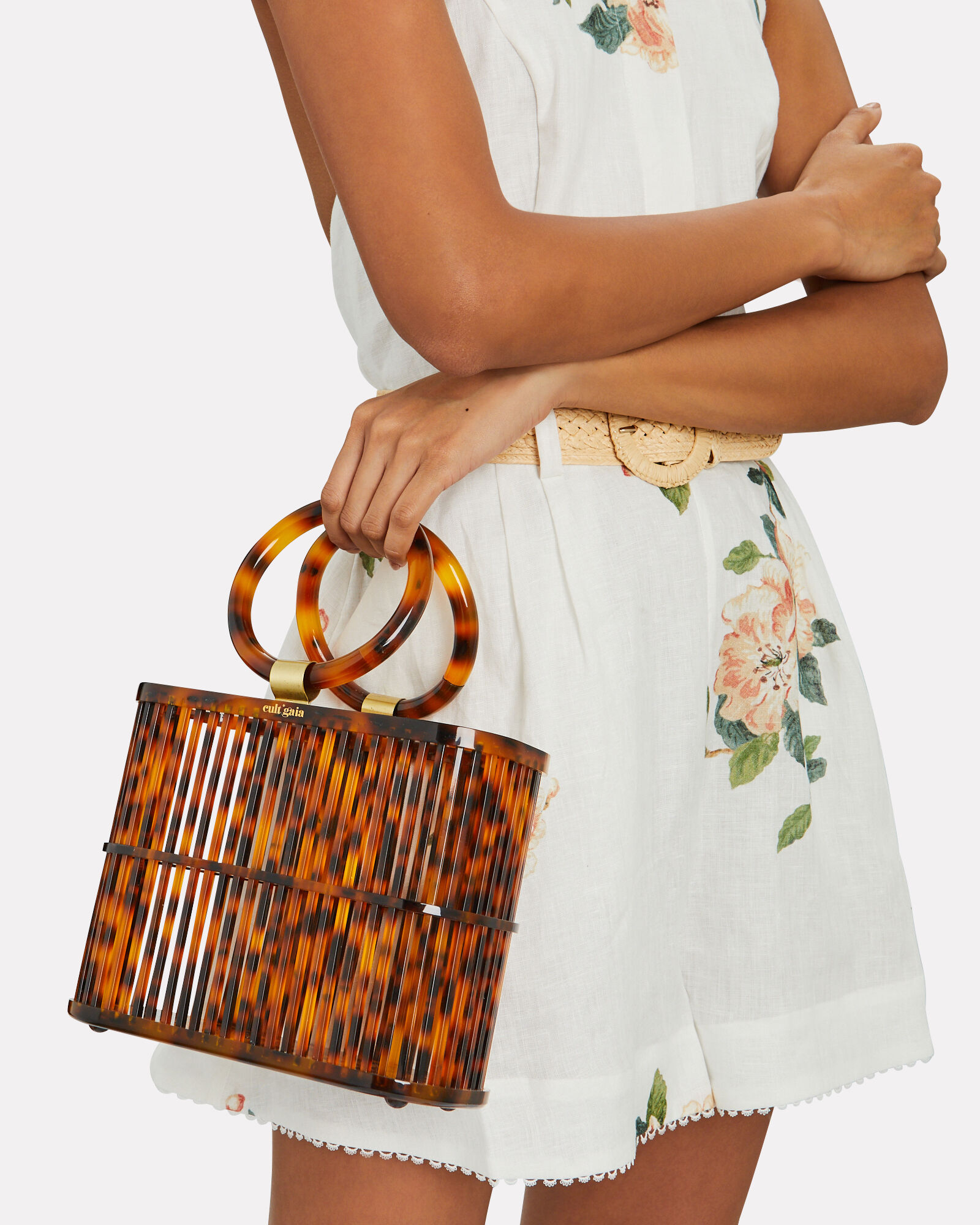 Coco Mini Cage Bag, BROWN, hi-res